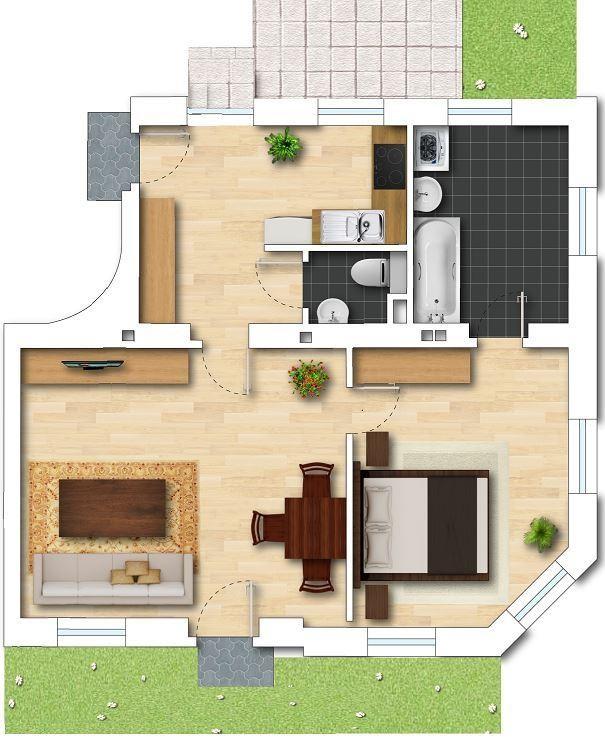 jpgcnt ---- PROVISIONSFREI: 2 Zimmerwohnung/Büro/Praxis mit schöner Terrasse und Vorgarten /  / 1230Wien / Bild 4