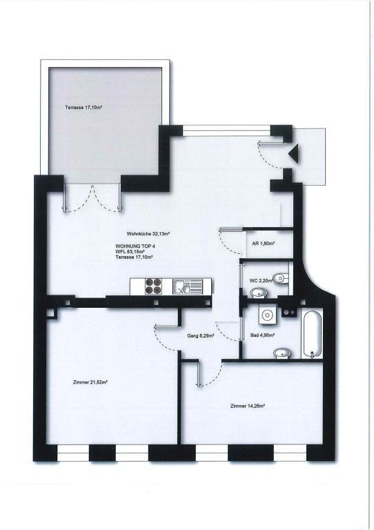 PROVISIONSFREI: schöne 3 Zimmerwohnung mit großer Terrasse /  / 1230Wien / Bild 2
