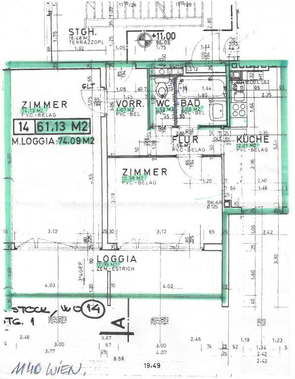 MIETHIT 2 Zimmer + Loggia bei U 3 Grünruhelage /  / 1140Wien / Bild 0
