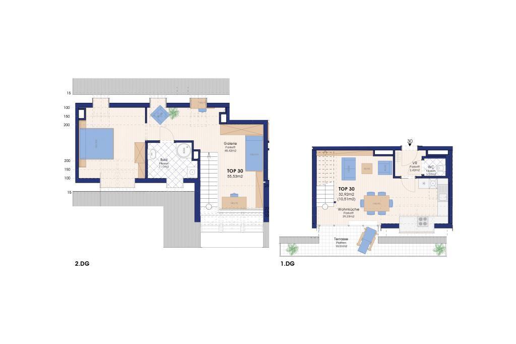 jpgcnt ---- NEUBAU: DACHTERRASSENWOHNUNG 3 Zimmer, 10,5 m² Terrasse, direkt bei der U-Bahn /  / 1220Wien / Bild 1