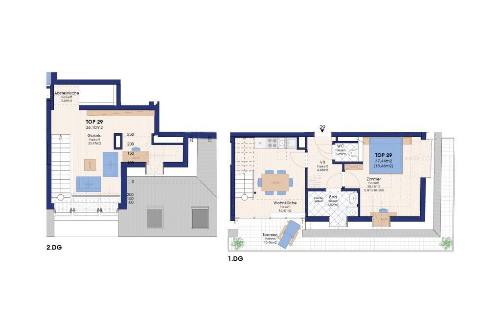 jpgcnt ---- NEUBAU: DACHTERRASSENWOHNUNG 3 Zimmer, 15 m² Terrasse, direkt bei der U-Bahn /  / 1220Wien / Bild 0