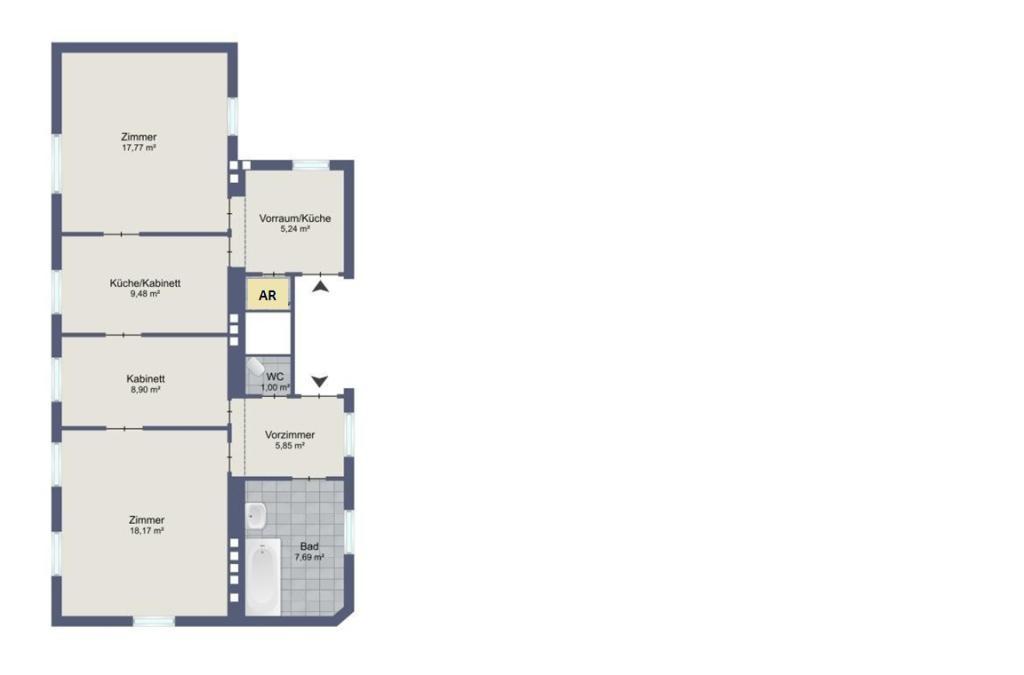 HELLE GENERALSANIERTE 2-ZIMMER-ALTBAUWOHNUNG IN ZENTRALER RUHELAGE! / Wohnung - Miete / 1180Wien,Währing / Bild 5