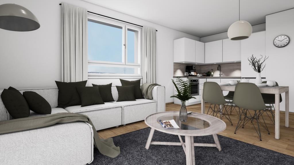Erstbezug! 4-Zimmer-Wohnung mit Balkon! Zentral begehbar!