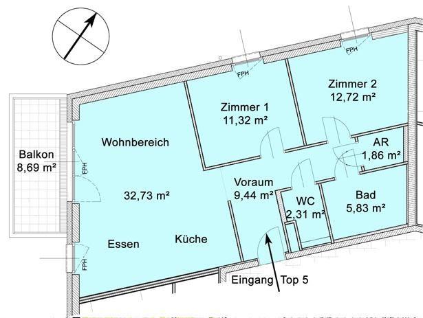 jpgcnt ---- Hochwertige 3-Zimmer-Wohnung mit Westbalkon /  / 3011Purkersdorf / Bild 5
