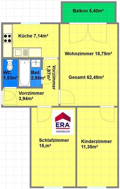 Ruhige neubau 3 Zimmerwohnung im EG mit Balkon im Innenhof /  / 1190Wien / Bild 3