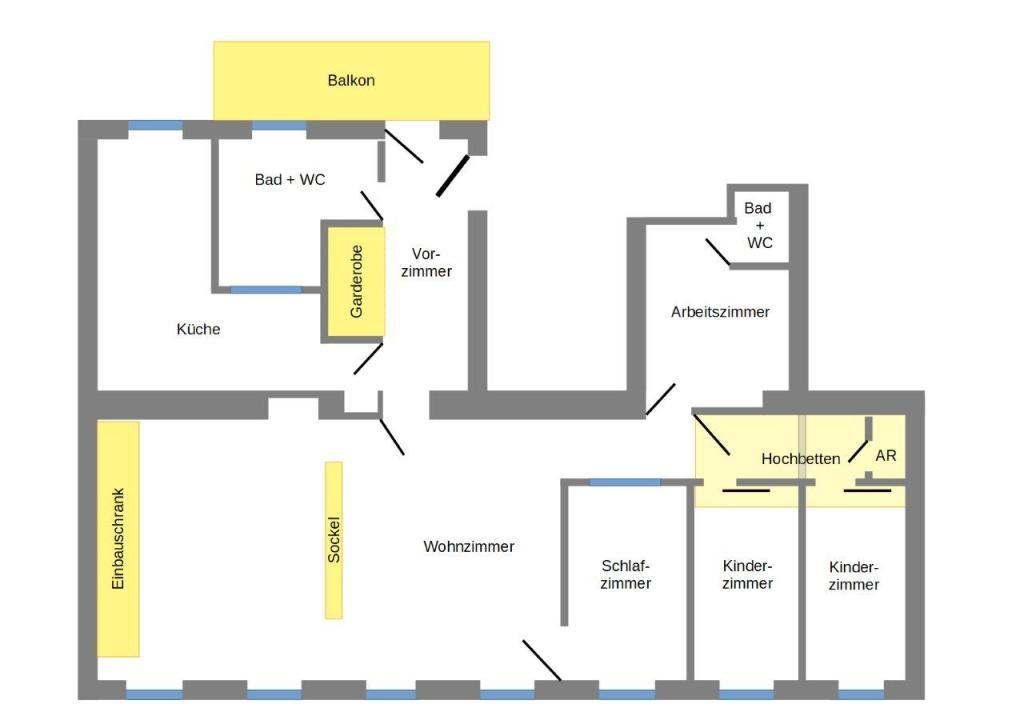 jpgcnt ---- Sonnige und ruhige Altbauwohnung zwischen Prater und Augarten mit Balkon /  / 1020Wien / Bild 4