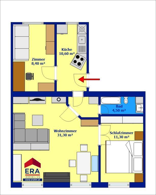 jpgcnt ---- 3 ZIMMER Wohnung in einem gepflegten Zustand /  / 1110Wien / Bild 6