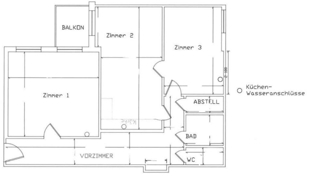 3-Zimmer Citywohnung mit Balkon /  / 1020Wien / Bild 2