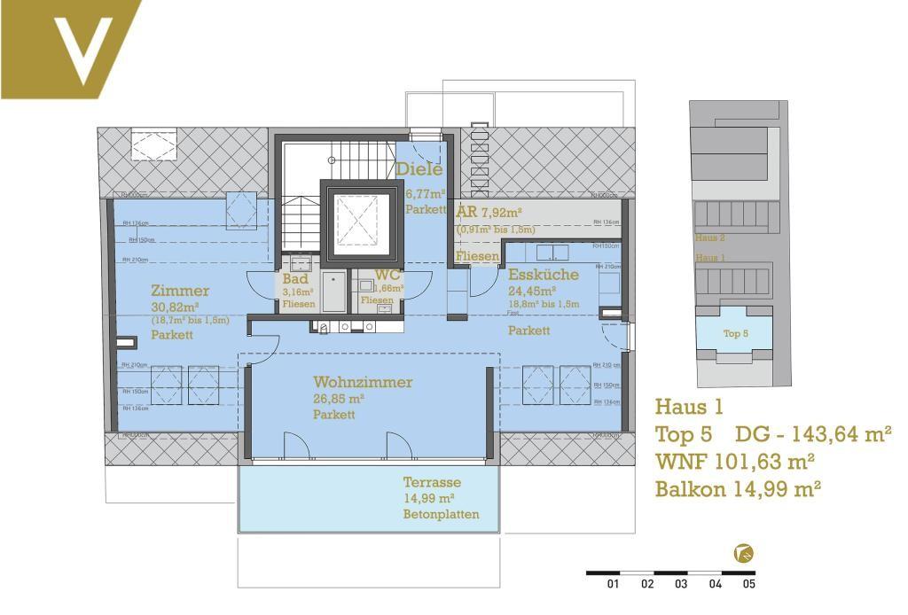 Dachgeschossmaisonette mit südseitiger Terrasse - Provisionsfrei // Attic-Duplex with south facing Terrace - Commissionfree // /  / 1220Wien / Bild 1
