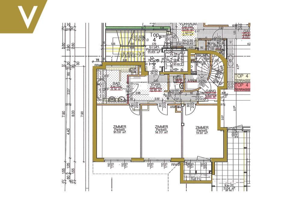 Moderne Terrassen-Maisonette mit 4 Schlafzimmer // Modern Terrace Duplex with 4 Bed-Rooms /  / 1180Wien / Bild 10
