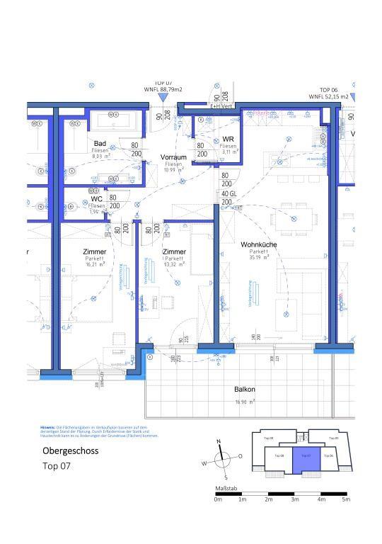 3 Zimmerwohnung mit riesigem Balkon in Aspern - PROVISIONSFREI // 3 room apartment with huge balcony in Aspern - Commissionfree // /  / 1220Wien / Bild 3