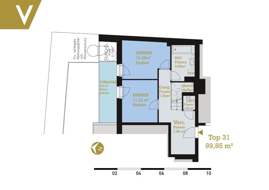 Maisonette mit 2 Terrassen im Grünen - Provisionsfrei // Dupplex-Apartment with 2 terraces in the greenery - Commissionfree /  / 3412Kierling / Bild 3