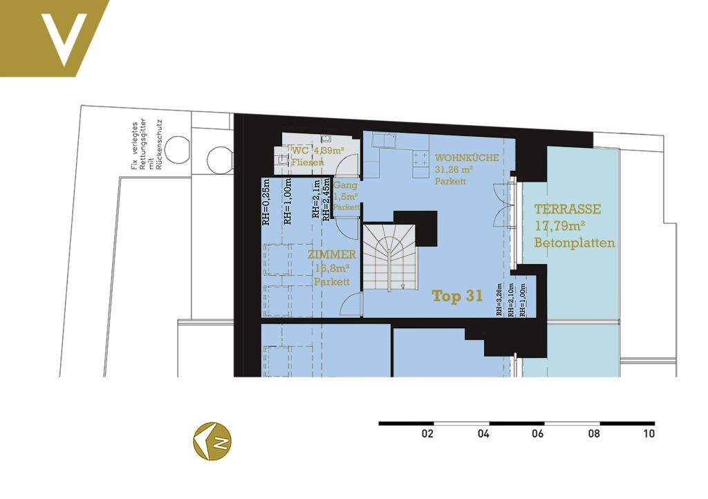 Maisonette mit 2 Terrassen im Grünen - Provisionsfrei // Dupplex-Apartment with 2 terraces in the greenery - Commissionfree /  / 3412Kierling / Bild 4