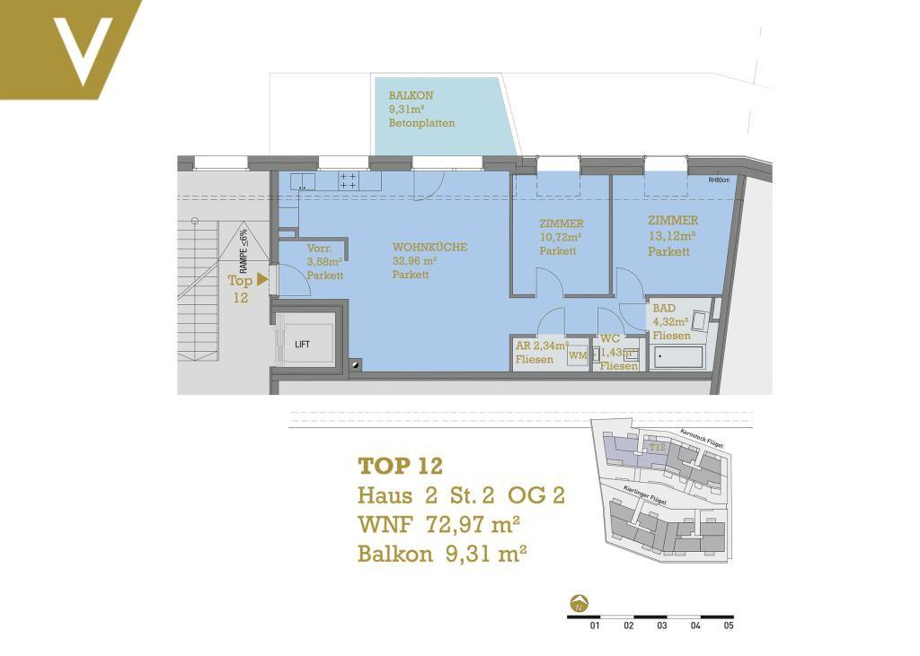 Wohnung mit Balkon / Baurecht-Provisionsfrei // Apartment with Balcony / Construction-Right - Free of Commission // /  / 3400Klosterneuburg / Bild 4