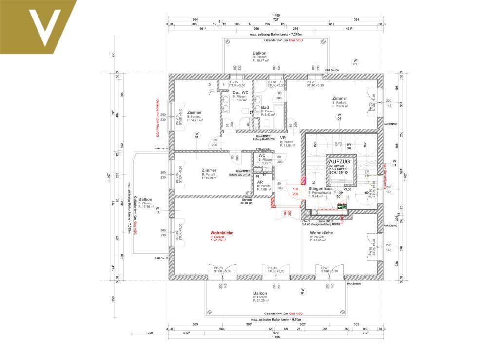 Wohnen in einer elitären Gegend mit 3 Terrassen und 2 Garagenplätze // Living in an elitist area with 3 terraces and 2 garages // /  / 1190Wien / Bild 16