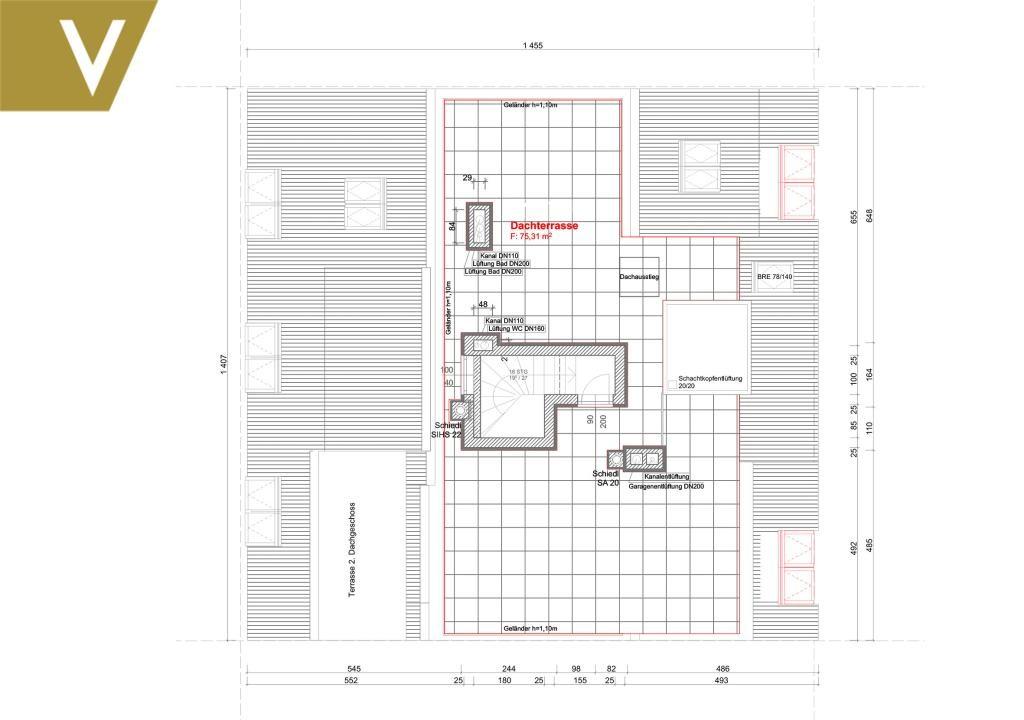 Luxus-Maisonette mit Rundum-Weitblick und 2 optionale Garagenplätze // Luxury duplex with panoramic views and 2 optional garages /  / 1190Wien / Bild 11
