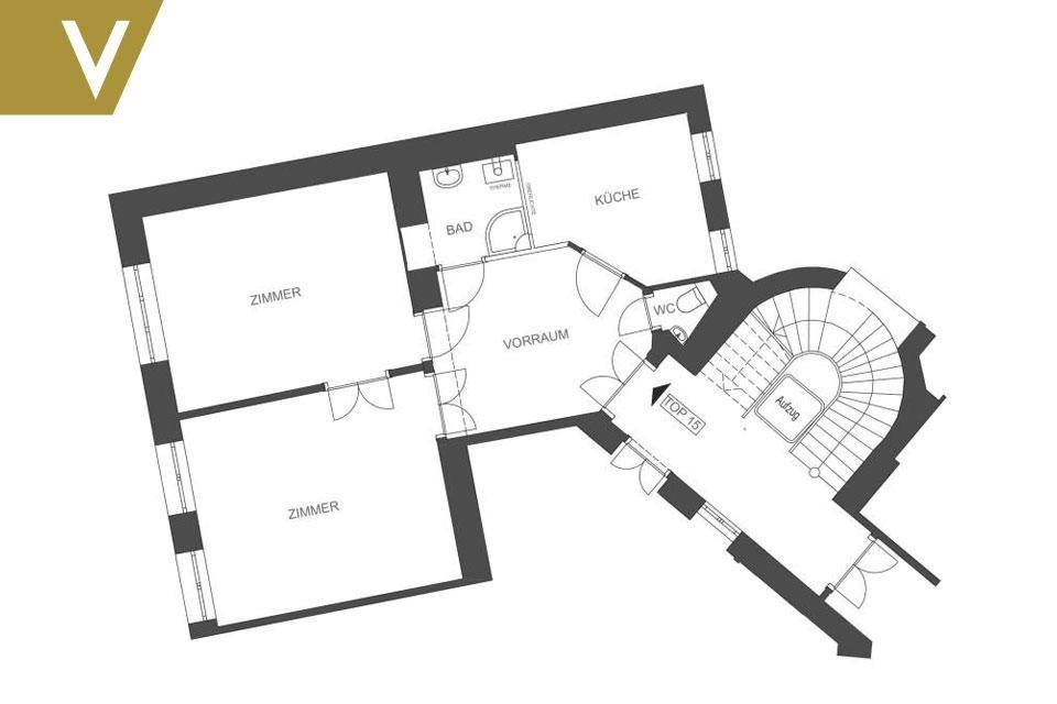 Mit bestem Geschmack möbliertes Apartment in sehr guter Lage // With best taste furnished Apartment in very good locartion // /  / 1090Wien / Bild 2