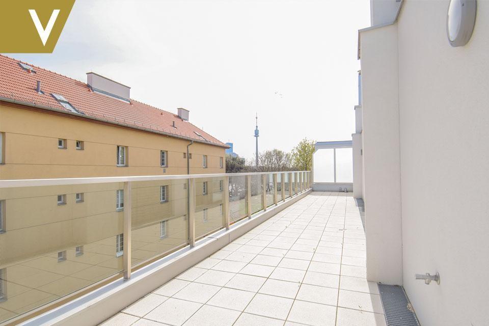 Eine Traumwohnung mit unverbaubarem Blick auf die Donau PROVISIONSFREI // A dream apartment with unobstructed view over the Danube COMMISSION FREE /  / 1210Wien / Bild 2