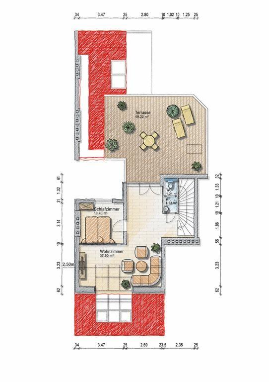Exklusive DG Wohnung 183 m2 - 5 Zi - Klima - 60 m2 Terrassen /  / 1030Wien, Landstraße / Bild 3
