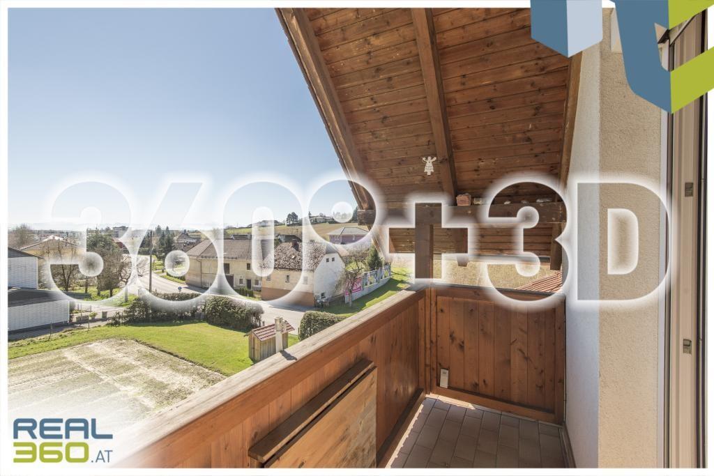 Blick vom Balkon Richtung Süden 360°+3D