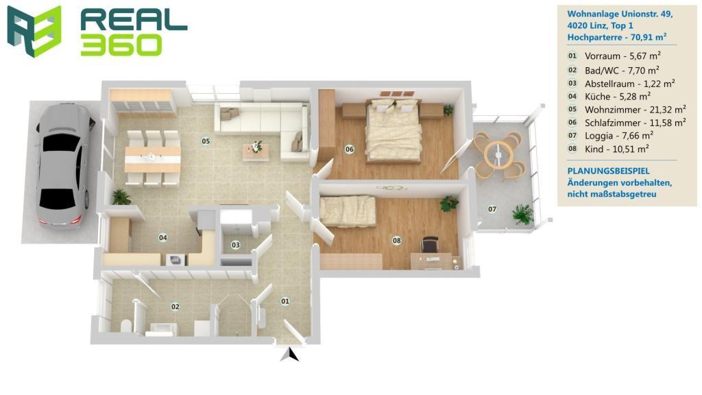 LETZTE CHANCE - NEUBAU-3-Zimmer-Wohnung in Linz! /  / 4020Linz / Bild 1