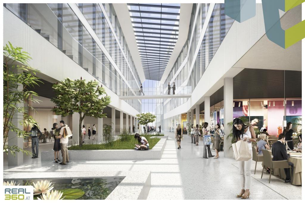Mall in den Promenaden-Galerien - Visualisierung
