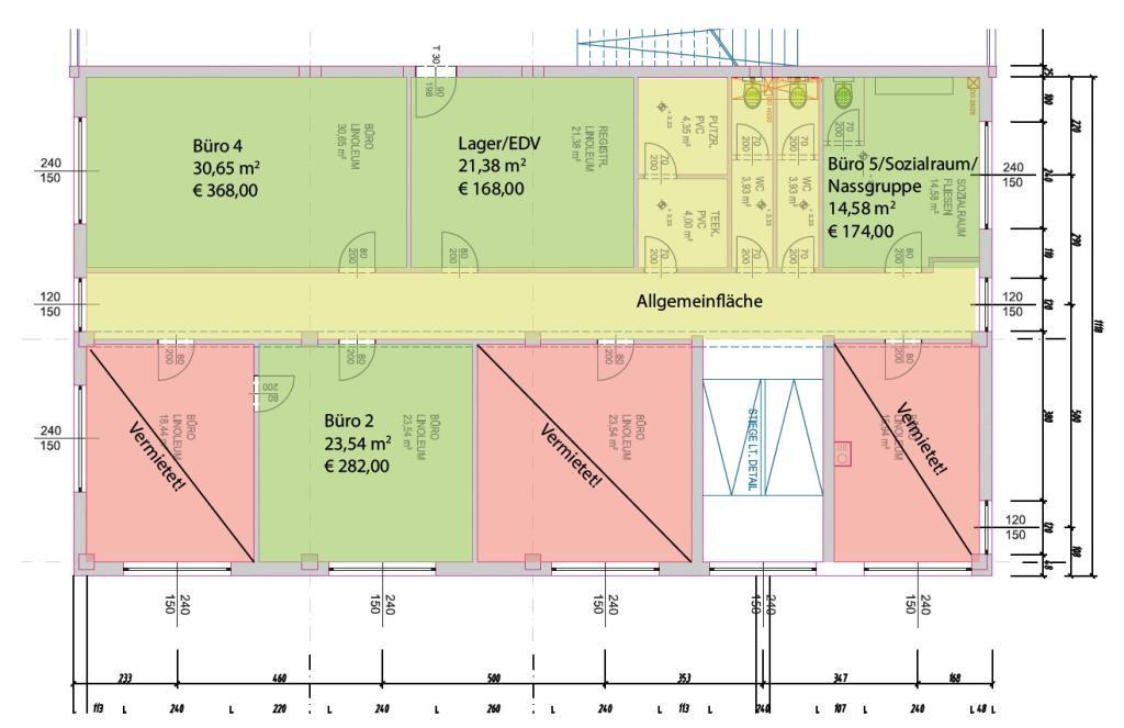 Plan Büroflächen
