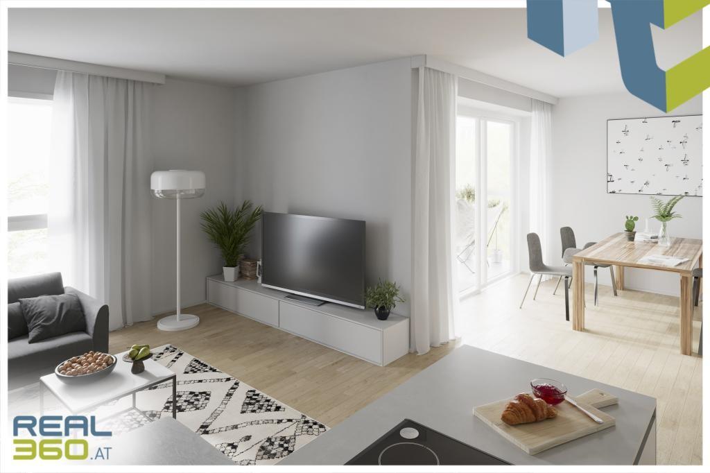Innenansicht Wohn-Kochbereich I - Visualisierung