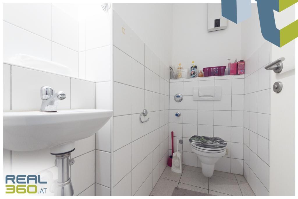 Eine der beiden Toiletten