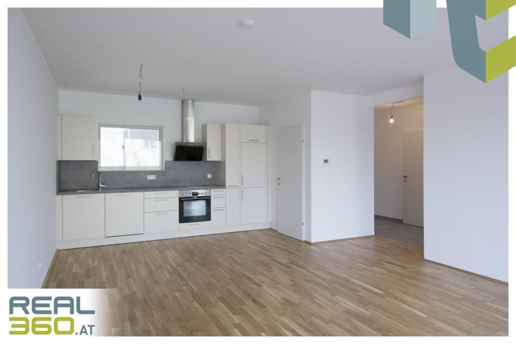Wohn-, Koch- und Essbereicht mit Küche