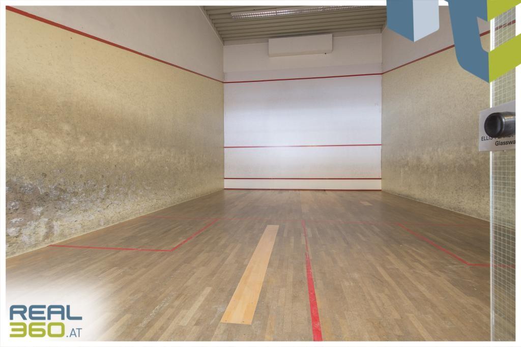 Innenansicht Squash-Halle