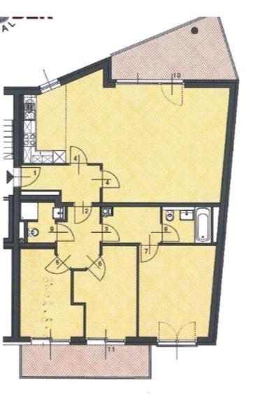 Top 4 Zimmer Neubauwohnung mit 2 Balkonen und privatem Badezugang zum Kaiserwasser! /  / 1220Wien / Bild 2