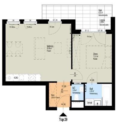 ERSTBEZUG: Brandneue 2-Zimmer-Wohnung mit 9m² BALKON /  / 1030Wien / Bild 2