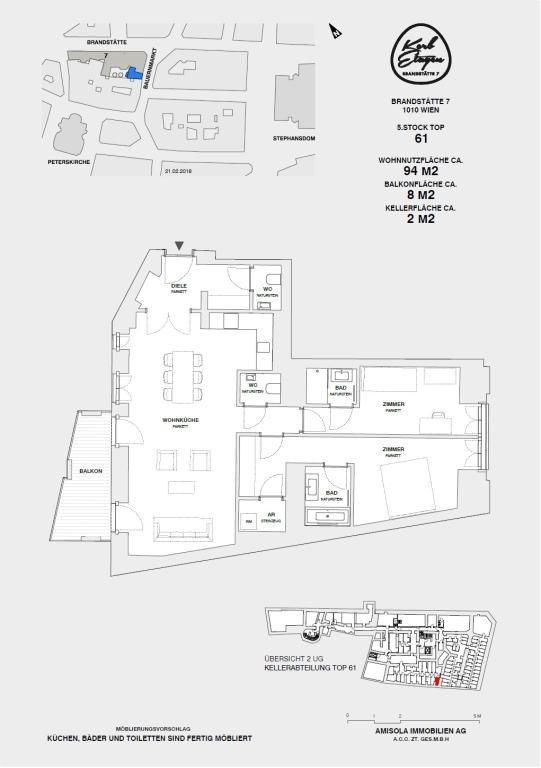 NEU - ERSTBEZUG: 3 Zimmer mit großem Balkon in Traumlage /  / 1010Wien / Bild 1