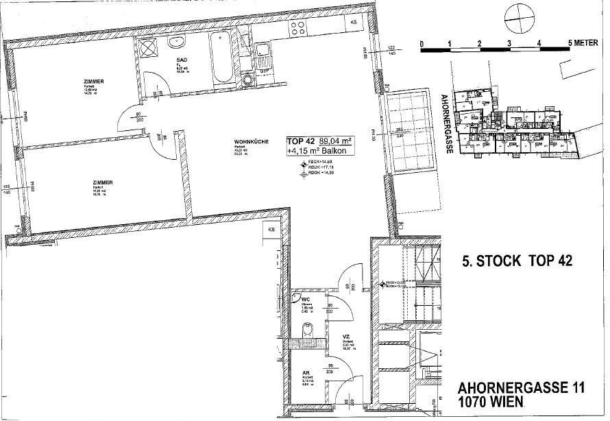 Moderne 3-Zimmer Wohnung in Traumlage /  / 1070Wien / Bild 1
