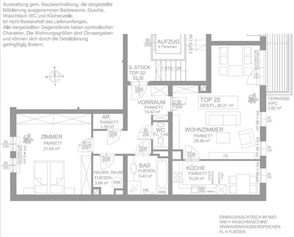 jpgcnt ---- Perfekt aufgeteilte Terrassenwohnung in erstklassiger Lage /  / 1090Wien / Bild 2