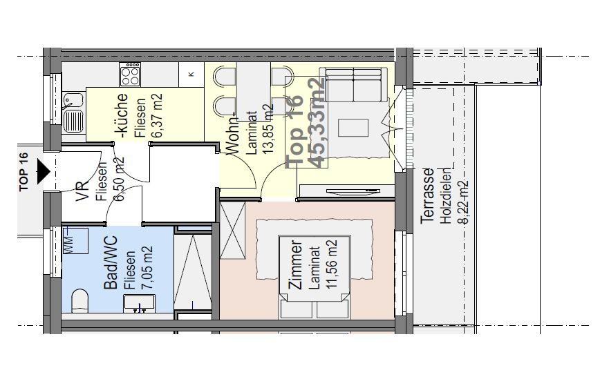 * zweizimmereigentum * hochwertig modern * familiäres ambiente * im allseits beliebten Auersthal /  / 2214Auersthal / Bild 3