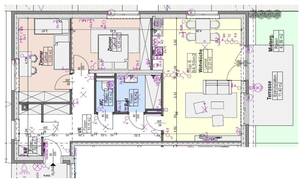*gartenwohnungs-erstbezug * hochwertig modern * familiäres ambiente * dynamisches Auersthal /  / 2214Auersthal / Bild 3