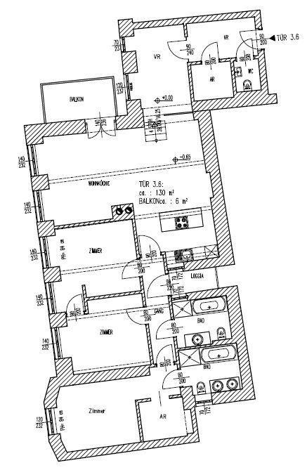 jpgcnt ---- schöne Altbauwohnung mit Balkon in Stilhaus - unbefristet /  / 1070Wien / Bild 1