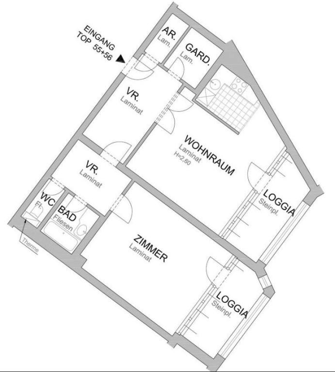 jpgcnt ---- Zentral gelegene Wohnung mit 2 Balkone in sehr guter Innenstadtlage,  unbefristet /  / 1010Wien / Bild 1