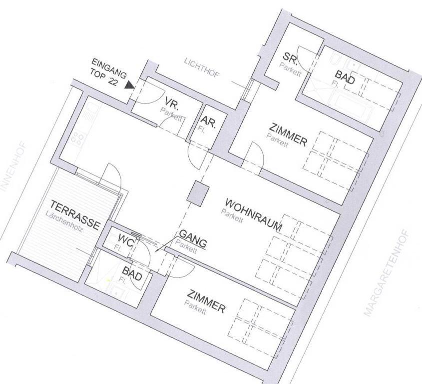 sehr schöne Dachterrassenwohnung in wunderschönen Stilhaus - unbefristet /  / 1050Wien / Bild 1