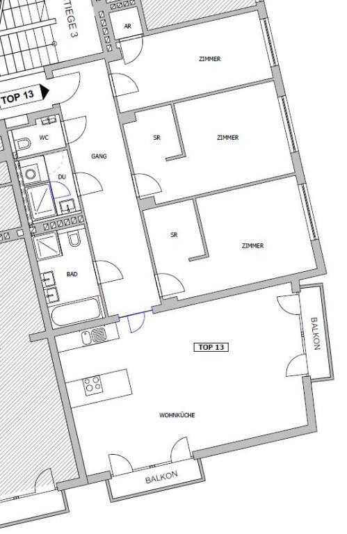 Stadtnahe Wohnung mit 2 kleinen Balkone - unbefristet /  / 1030Wien / Bild 1