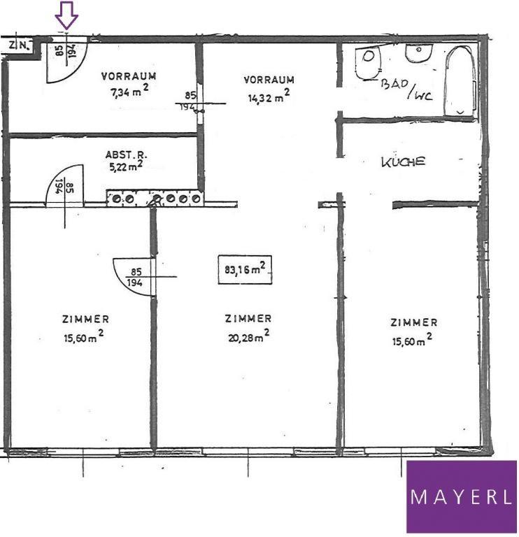 3 Zimmerwohnung mit Blick in den begrünten Innenhof /  / 1040Wien / Bild 10