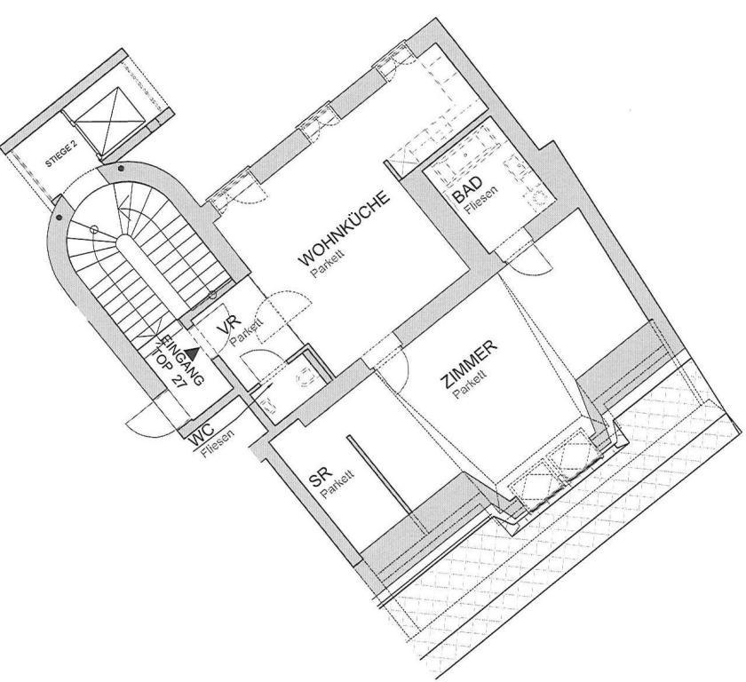 jpgcnt ---- Dachgeschoßwohnung in schönem Stilhaus - unbefristet /  / 1050Wien / Bild 0