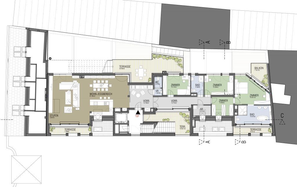 außergewöhnliche Luxus Dachterrassen Wohnung in nobler Lage / Erstbezug /  / 1190Wien, Döbling / Bild 9