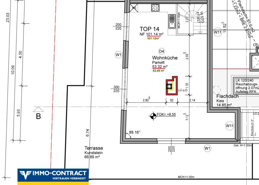 jpgcnt ---- Qualität & Ausstattung die überzeugt!  Schlüsselfertiger DG-Neubau 3-4 Zimmer mit toller Terrasse. Wählen Sie bis Ende 2018 Ihre pers. Ausstattung! /  / 1220Wien / Bild 2