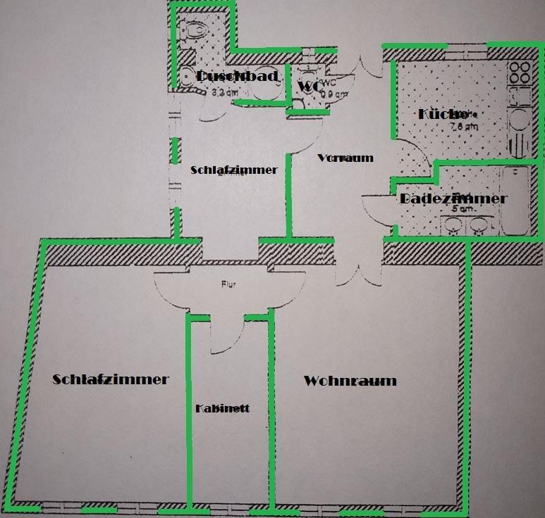 VIER-ZIMMER-ALTBAUWOHNUNG IN RUHIGER LAGE MIT GUTER RAUMAUFTEILUNG /  / 1060Wien / Bild 4